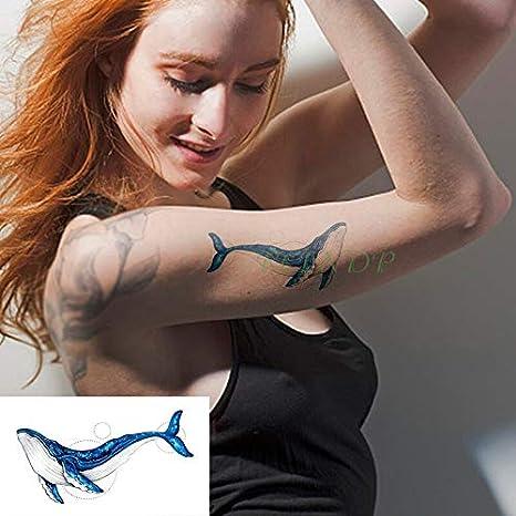 tzxdbh Impermeable Etiqueta engomada del Tatuaje Principal de Las ...