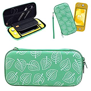 Carrying Case Compatible with Nintendo Switch Lite, [for Animal New Horizons Edition] New Leaf Crossing Design, Hard Full Protective Case, Portable Travel Cover Bag for Nintendo Switch Lite