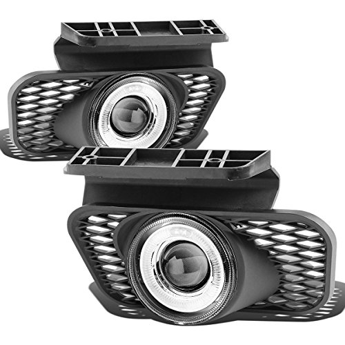 Chevy Silverado/Avalanche Halo Projector Clear Lens OE Bumper Fog Light (Pair, Driver+Passenger Side)