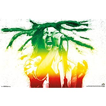 "Trends International Bob Marley Electric Wall Poster 22.375"" X 34"""