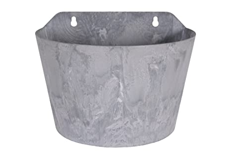 Vaso Esterno Grigio : Artstone vaso da fiori oggetto da parete claire resistente al gelo