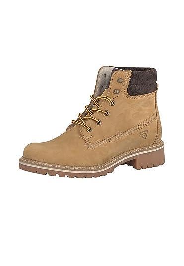 f7e4514b3b68f9 Tamaris Derb- Elegante Schnürschuhe Stiefelette Boots Beige Gelb 1-25242-29  613 Corn