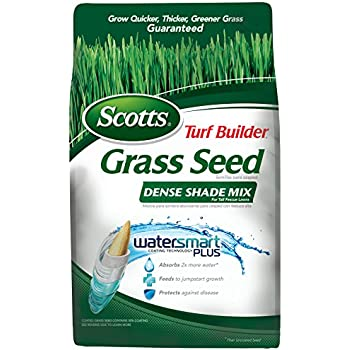 Scotts Turf Builder Grass Seed - Dense Shade Mix for Tall Fescue Lawns, 7-Pound