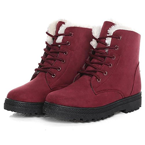 long Warmly boots snow red Ladies winter boots Waterproof lined SHANGXIAN B1pUYxqw