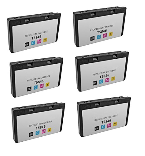 Picturemate Dash (6-Pack Remanufactured T5846 for use in PictureMate Charm PM 225, PictureMate Dash PM 260, PictureMate Flash PM 280, PictureMate Pal PM 200, PictureMate Show PM 300m Printer.)