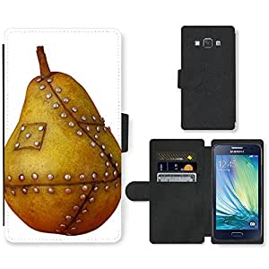 PU Cuir Flip Etui Portefeuille Coque Case Cover véritable Leather Housse Couvrir Couverture Fermeture Magnetique Silicone Support Carte Slots Protection Shell // V00001695 manipulado gmo fruta de pera // Samsung Galaxy A3 SM-A300 (not fit S3)