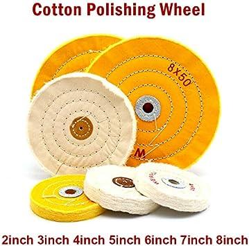 1 disco de pulido cosido en espiral de tela y algodón, grosor de ...