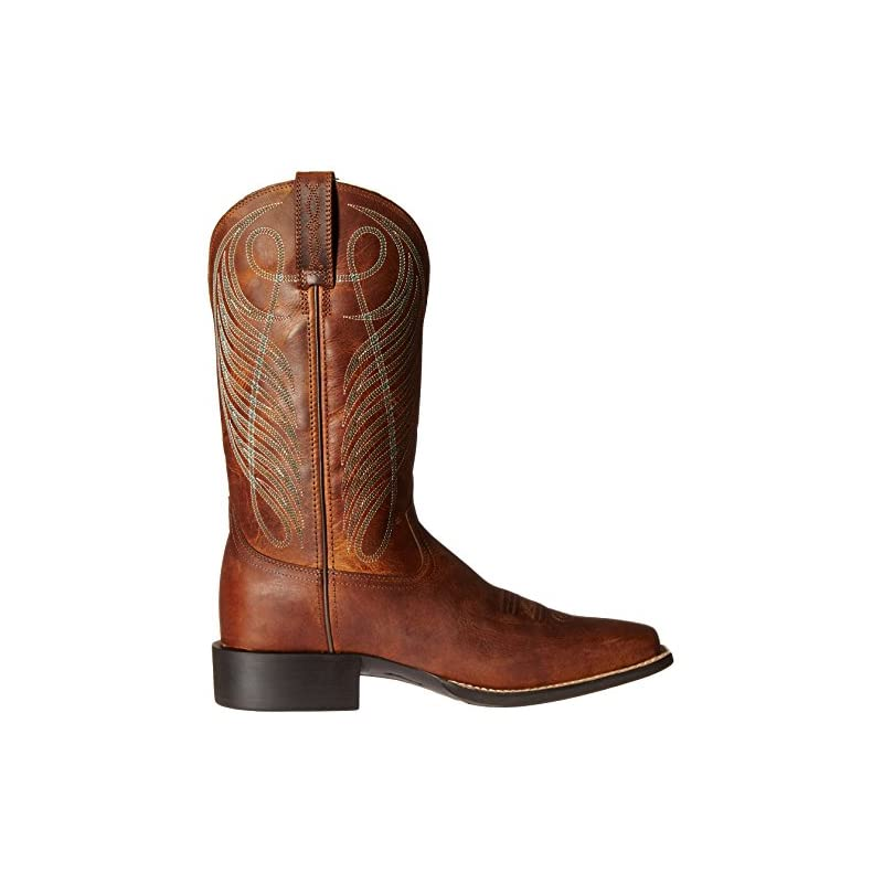 e88b471e341 Ariat Women's Round Up Wide Square Toe Western Cowboy Boot