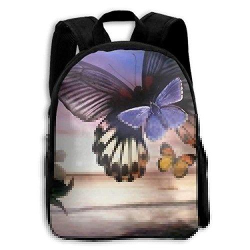 Kids Backpack Beautiful Butterfly Outdoor Boys School Bag Multipurpose Daypacks Backpacks by Lovexue