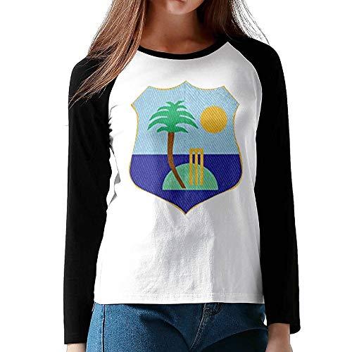 the best attitude acaff 2ad80 SSUJ7 West Indies Cricket Board Flag Female Raglan Long Sleeve T Shirts  Round Neck Baseball T