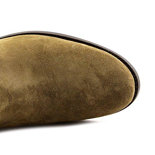 FRYE Damen Melissa Button Boot Cashew-Wildleder