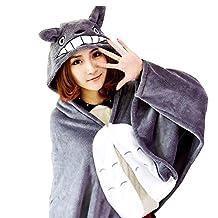 Kinomoto Anime Hooded Cloak Flannel Cape Hoodies for Sleep Nap Critter Blankets (Tonari No Totoro)