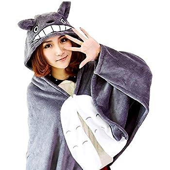 Amazon.com: KINOMOTO Anime Hooded Cloak Flannel Cape