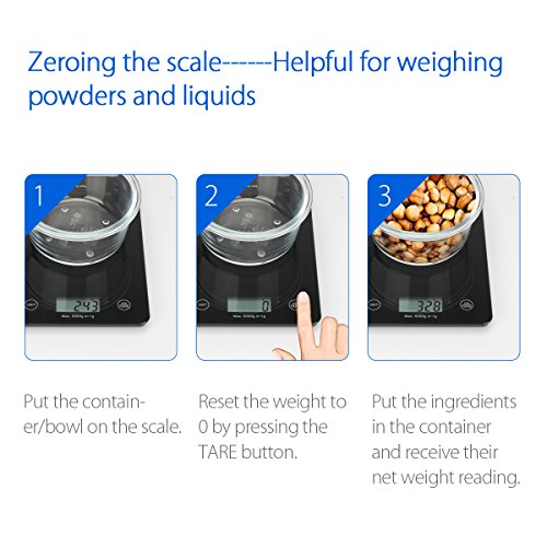 1byone food scale digital kitchen scale weigh in gram lb for Kitchen scale for baking