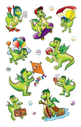 Avery Zweckform 54043 Kinder Sticker, Drachen, 27 Aufkleber