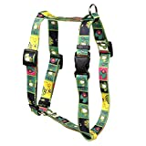 """Yellow Dog Design Frogs Roman Style Dog Harness 1"""" Wide and Fits Chest Circumference of 20 to 28"""", Large"""