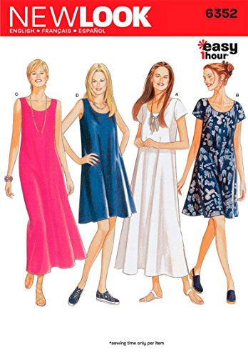New Look Sewing Pattern 6352 Misses Dresses, Size A -
