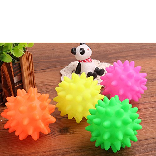 callm Pet Dog Cat Toy,Beautiful New Rubber Ball Toy Dog Pet Fun Ball Biting Toys and Chewing for Having Fun Exerciser Playing (Random) by callm (Image #3)