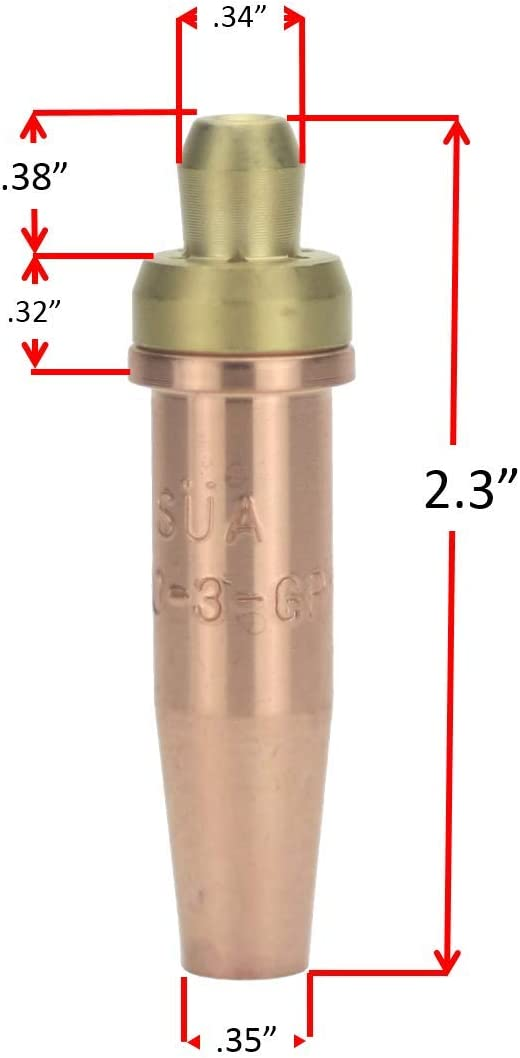3 Pack 3-GPN Propane Cutting Tip and 3 Small TIP Series S/ÜA Compatible with Victor 2 Sizes: 1