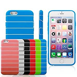 DUR Stripe Pattern TPU Soft Case for iPhone6 (Assorted Colors) , White