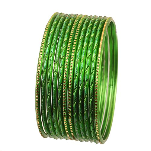 Green Rhinestone Bangle - Touchstone