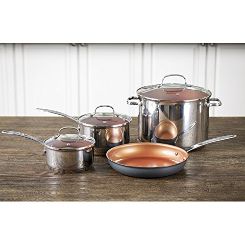 Nuwave Duralon 7 pc. Cookware Set. Good on all cook tops including induction