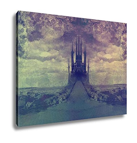 Ashley Canvas, Landscape With Old Castle At Night, Wall Art Home Decor, Ready to Hang, 16x20, AG5833756