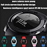 AMENON Bluetooth Smart Cell Phone Watch,Round Touch