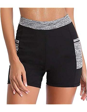 LITTHING Shorts de Sport Short de Sudation et Sauna Pantalon Amincissant  Short de Gym Fitness Sport 8badde848e8