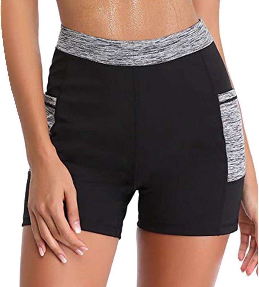 XXL LITTHING Shorts de Sport Short de Sudation et Sauna Pantalon Amincissant Short de Gym Fitness Sport Yoga Favorise la Transpiration Sauna Pants pour Femme Taille M