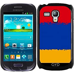 Funda para Samsung Galaxy S3 Mini (GT-I8190) - Armenia- 8 Bits Bandera by Cadellin