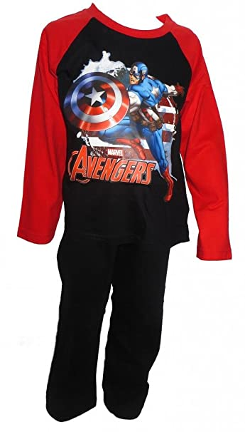 The Avengers Captain America para niños a partir de pijama 3-10 años disponible: Amazon.es: Ropa y accesorios