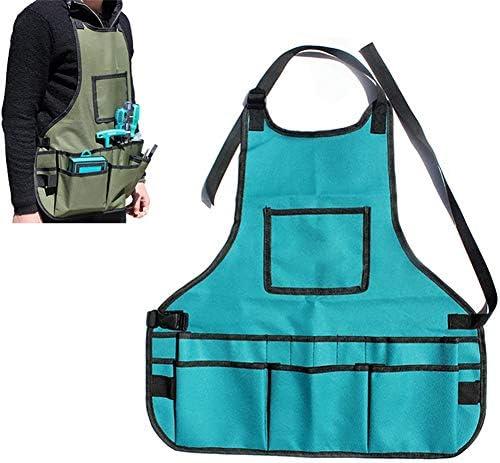 ガーデニングエプロン ポケット付き、防水耐摩耗性、調整可能、ガーデニングケア用、女性&男性用