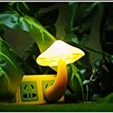 Mushroom Night Light with Plug, Warm White LED Control Sensor Lamp Bulb for for Kids Adult Bedroom Ourdoor Yellow Review