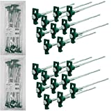 SE 9NRC10-20 Galvanized Non-Rust Tent Peg Stakes with Green Stopper