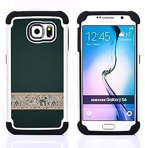 """Pulsar ( Fondo de pantalla de Diseño de Interiores cebra elefante"""" ) Samsung Galaxy S6 / SM-G920 SM-G920 híbrida Heavy Duty Impact pesado deber de protección a los choques caso Carcasa de parachoques"""