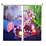 ZZHL Curtains Curtains, Blackout Hooks Rings Set Thermal Insulated Window Treatment Solid Eyelet for Living Bedroom 2 Panels (Size : 1.32x2.41m)