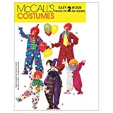 McCall's M6142 Learn to Sew Adult and Teen Clown Costume Sewing Pattern, Sizes L-XL
