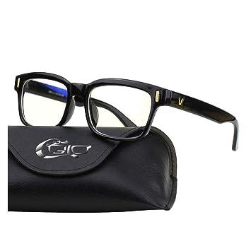 CGID CT84 Gafas para Protección contra Luz Azul, para Computadora, Lectura, Video Juegos, Protección de Fatiga Visual y contra Rayos UV,Rectángulo ...