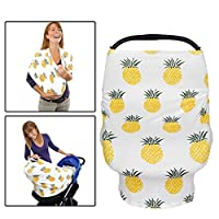 Premium 5 in 1 Baby Car Seat Cover Canopy - Nursing Breastfeeding Cover Scarf...