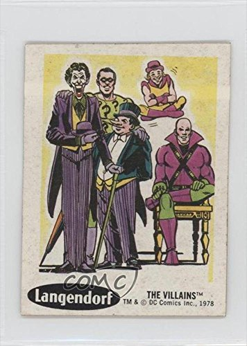 [The Villians COMC REVIEWED Good to VG-EX (Trading Card) 1978 Langendorf DC Super Hero Stickers - Food Issue [Base]] (Superheros And Villians)