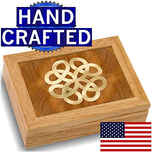 Wood Art Celtic Box – Handmade USA – Unmatched Quality – Unique, No Two are the Same – Original Work of Wood Art. A Celtic Gift, Ring, Trinket or Wood…
