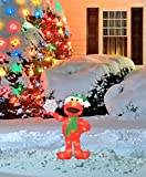 ProductWorks 24-Inch Pre-Lit Sesame Street Elmo with Snowflake Christmas Yard Decoration, 35 Lights