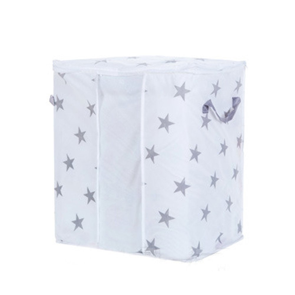 Woopower Almacenamiento Organzier funda, telas no tejidas Jersey de plegable ropa manta armario organizador bolsa de almacenamiento Caja, Star, 42cm*27cm*50cm