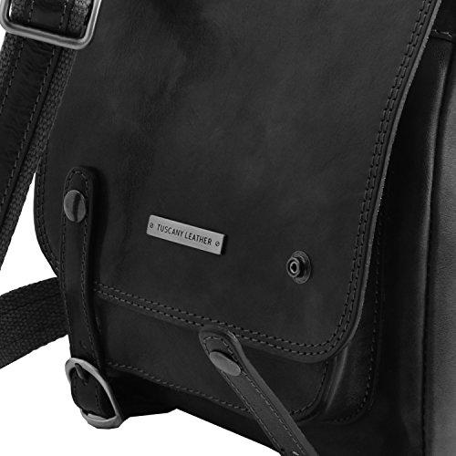 Tuscany Leather - Roby - Sac pour homme en cuir avec boucles - Miel