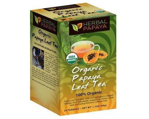 Papaya Leaf Tea 24 teabags Organic - From Herbal Papaya