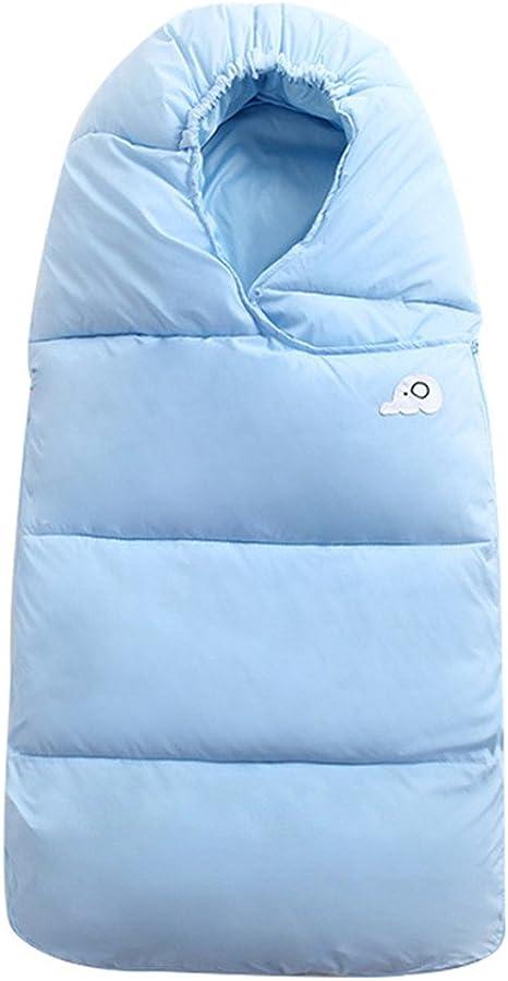 WYT Bebé Saco de dormir Para invierno Pluma abajo Algodón Grueso Recién nacido Envolverse Con Cremallera 76cm,Azul: Amazon.es: Bebé