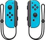 Nintendo Swtich 4 items Bundle:Nintendo Switch 32GB Console Gray Joy-con,64GB Micro SD Memory Card and an Extra Pair of Nintendo Joy-Con (L/R) Wireless Controllers Neon Blue,Super Bomberman R