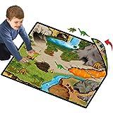 Neat-Oh! Dinosaur Prehistoric World 2-Sided Playmat w/ 2 Dinos