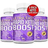 (3-Pack) Ultra Fast Keto Boost Pills - Rapid Keto Boost 180 Count Advanced BHB Exogenous Ketones Ketosis Ketogenic Supplement for Men Women - 3 Bottles